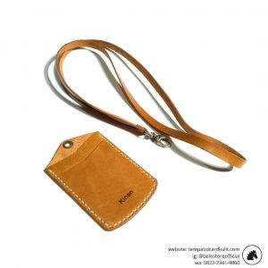 id card holder kulit custom