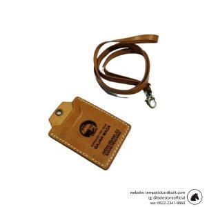gantungan id card kulit custom