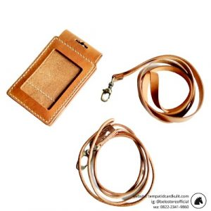 tempat id card kulit magnet custom havana