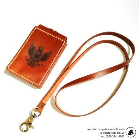 gantungan id card kulit magnet simbol garuda