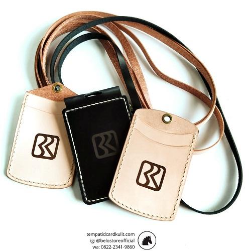 id card holder kulit asli bri