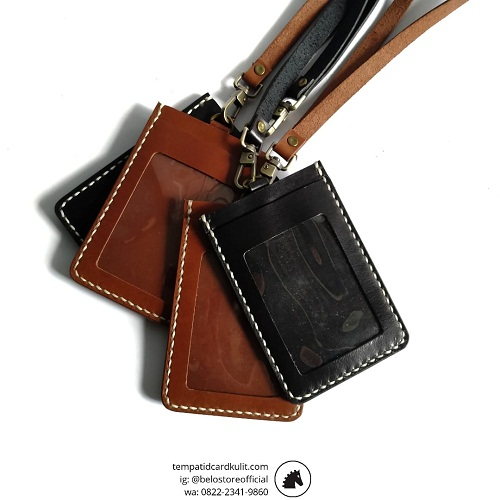 id card holder kulit asli murah
