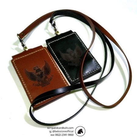 id card holder kulit magnet logo garuda