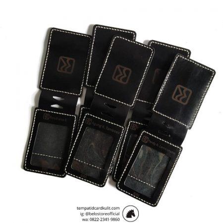 tempat id card kulit magnet bri