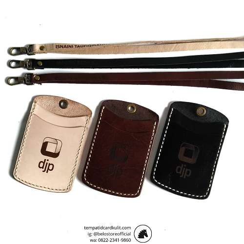 id card holder kulit custom dirjen pajak