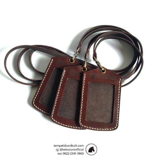 id card holder kulit custom murah