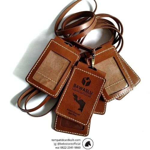 id card holder kulit magnet bawaslu