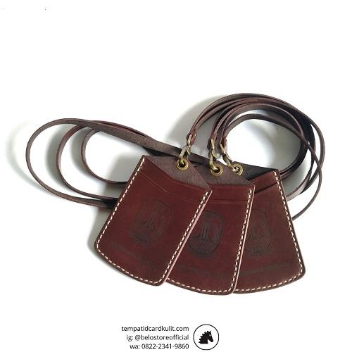 jual id card holder kulit custom