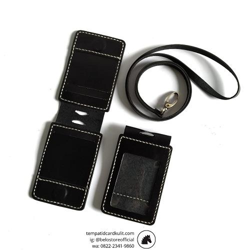 jual id card holder magnet kulit medan