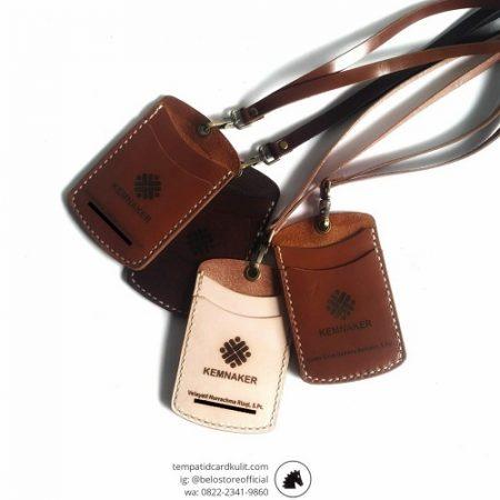 id card holder kulit kemnaker